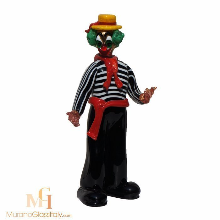 sculpture clown murano