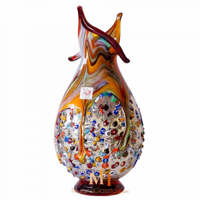 italian hand blown glass vases