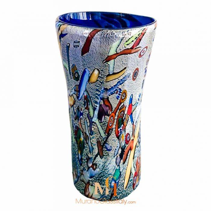 意大利白色玻璃花瓶