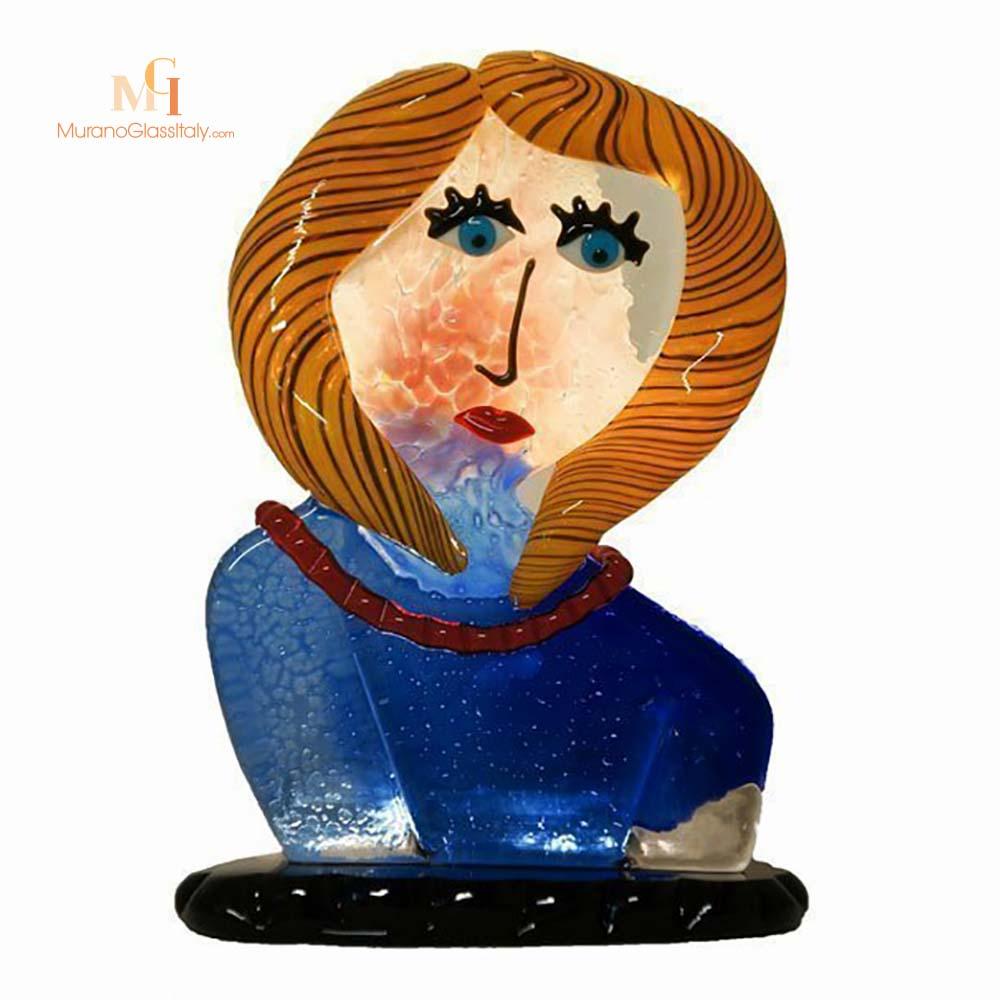 sculpture femme murano