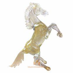 金色水晶马摆件