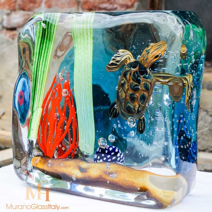 海洋动物琉璃摆件