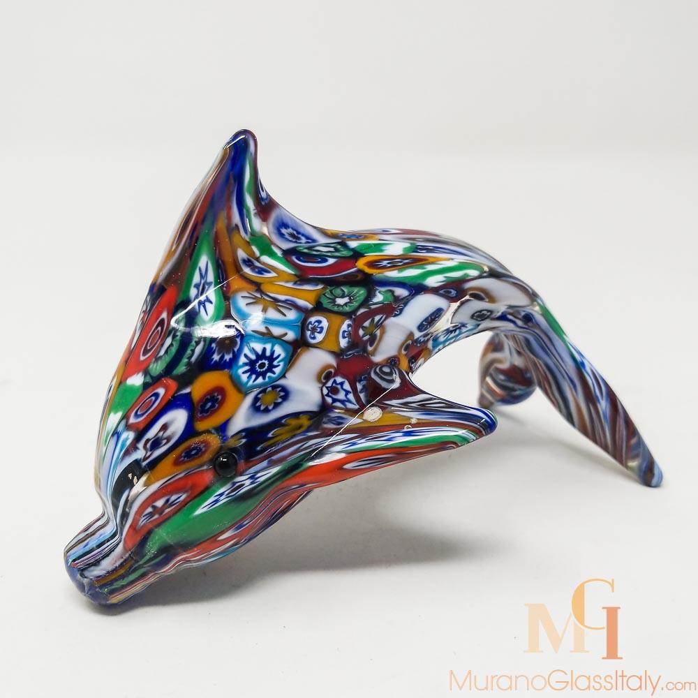 水晶海豚摆件