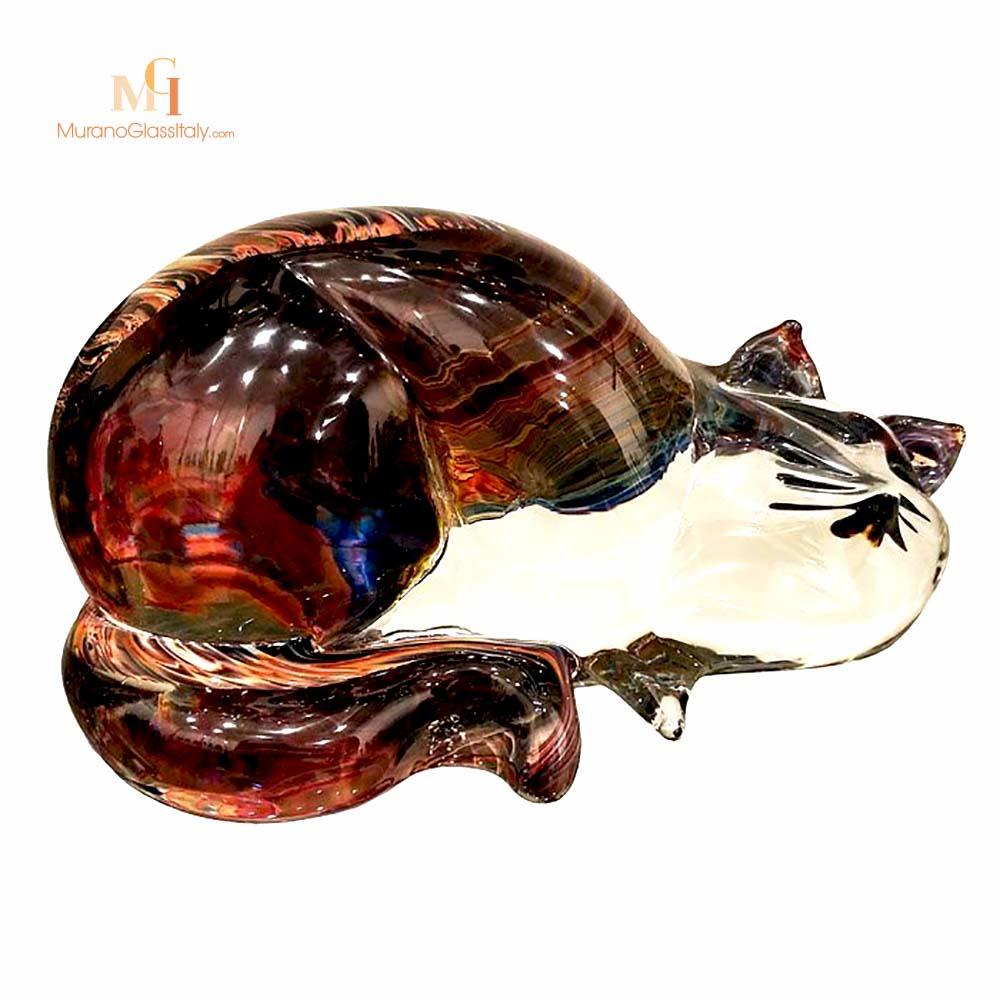 意大利水晶猫摆件