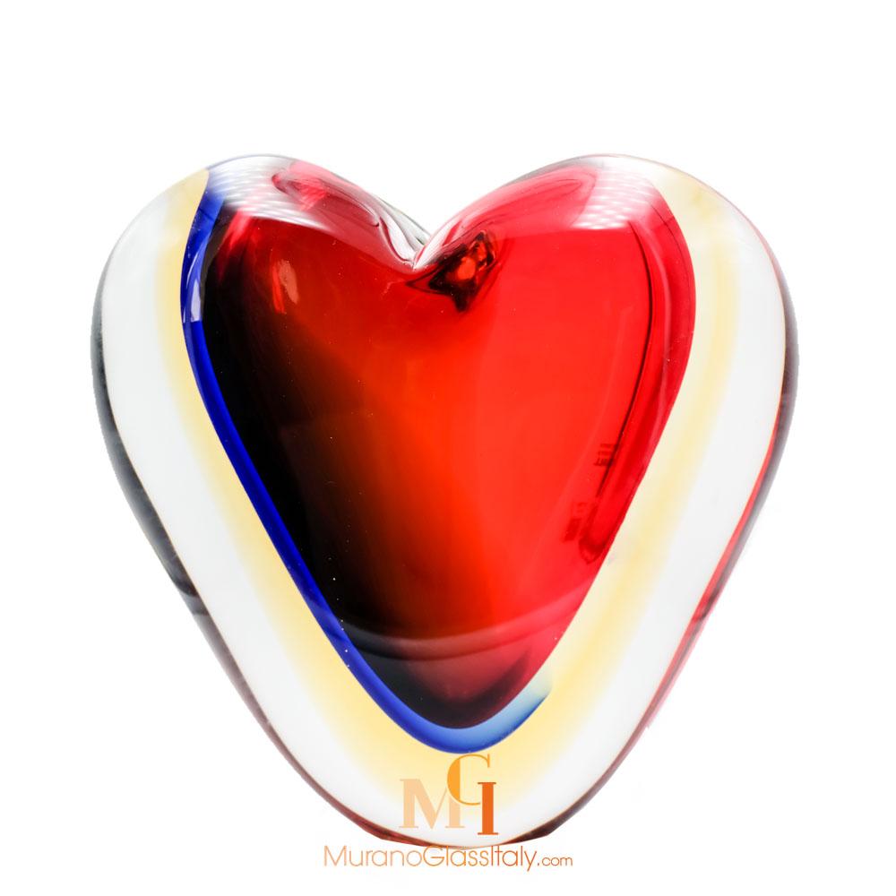 心形水晶花瓶