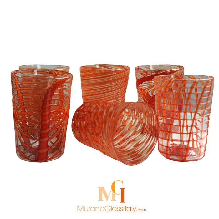 穆拉诺彩色水晶玻璃杯