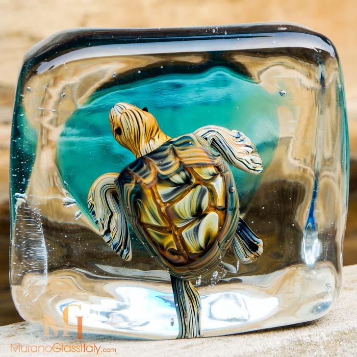 水晶海龟摆件