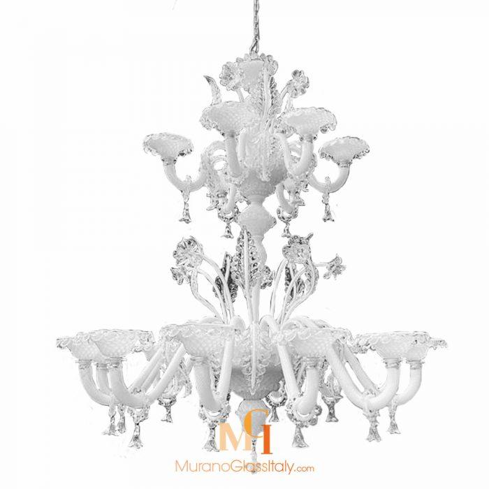 white murano glass chandelier