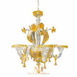 amber chandelier