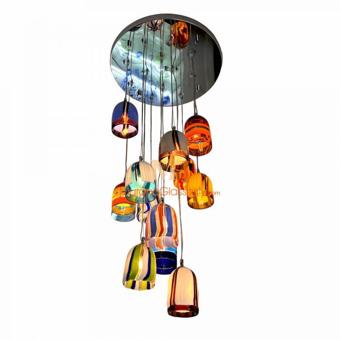 彩色水晶玻璃球吊灯