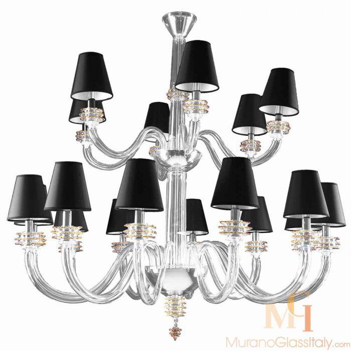 modern murano chandelier