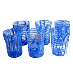 verres eau design murano