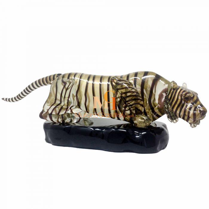 murano glass tiger