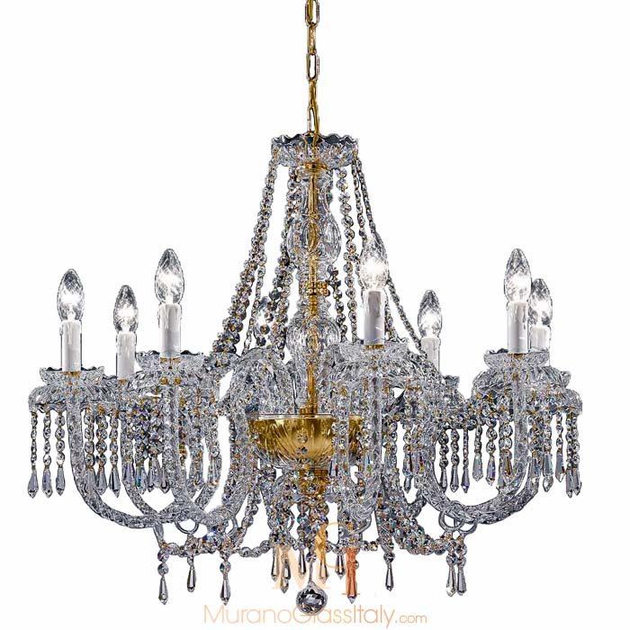 murano style glass chandelier
