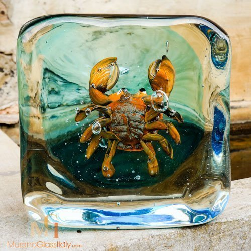 手工琉璃螃蟹工艺品