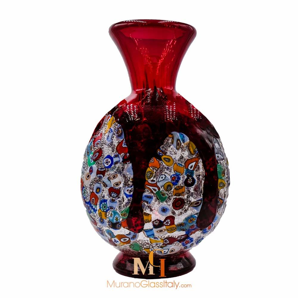 意大利红色玻璃花瓶