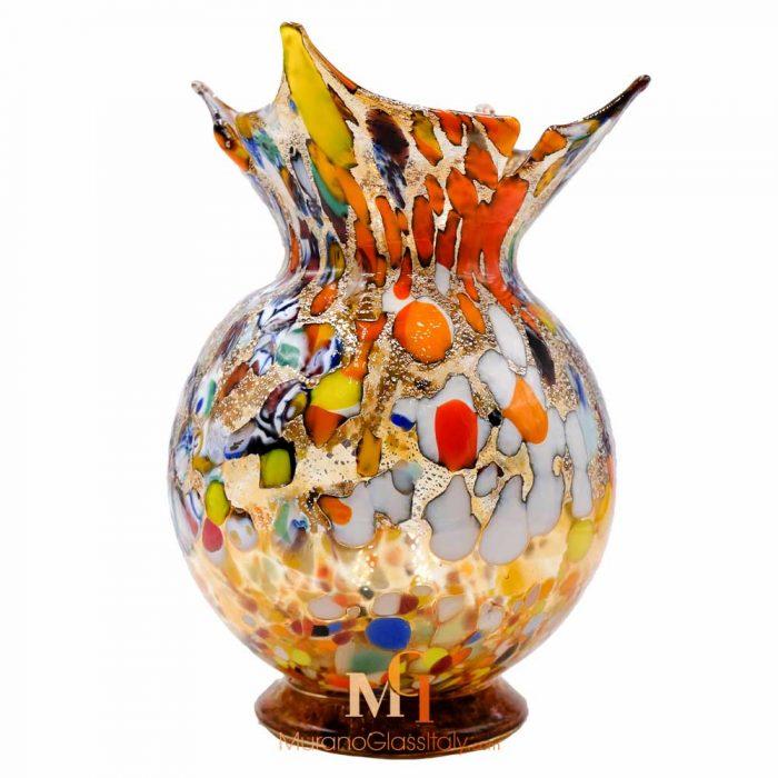 yellow murano glass vase