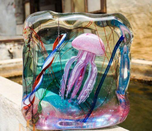 meduse en verre