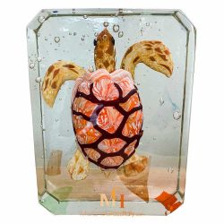 glass turtle sculpture