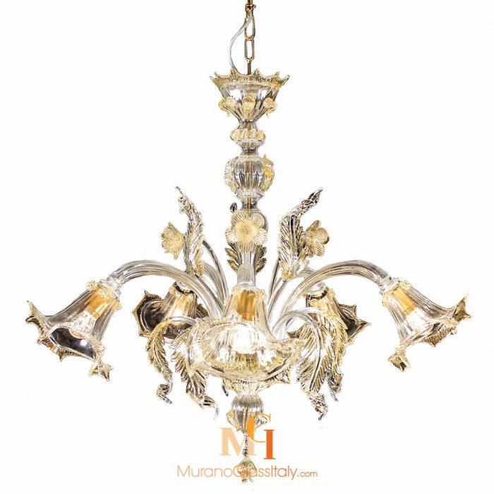 glass flower chandelier
