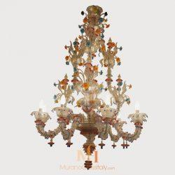 hand blown glass chandelier
