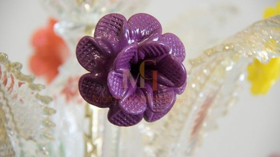Tesoro - Vintage Crystal Chandelier - Purple Rose