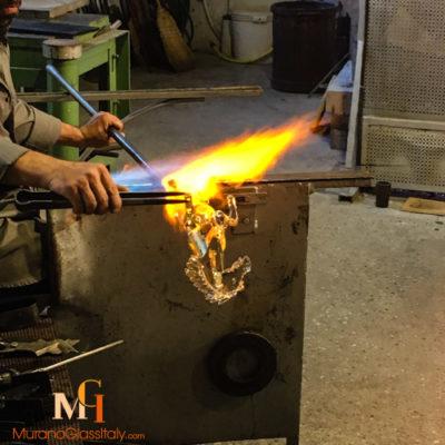 hand made horse murano glass