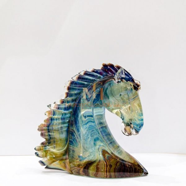 حصان زجاج العقيق من مورانو