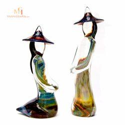 figurines calcédoine murano