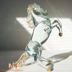 hand blown glass horses