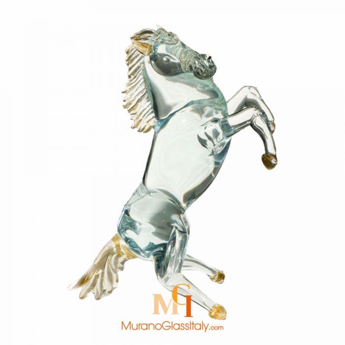 hand blown glass horses