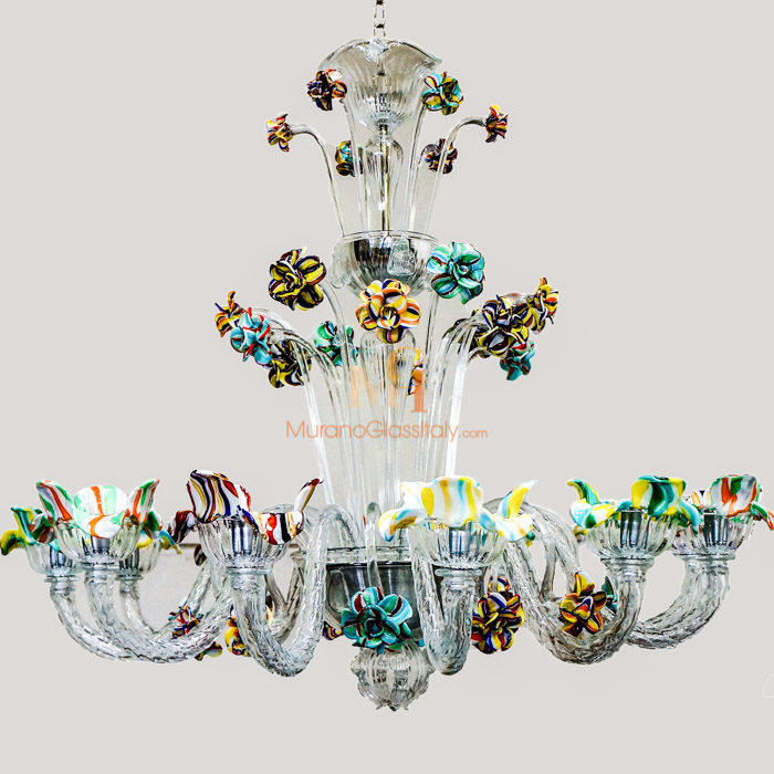 glass blown chandeliers