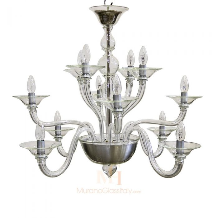 all glass chandelier