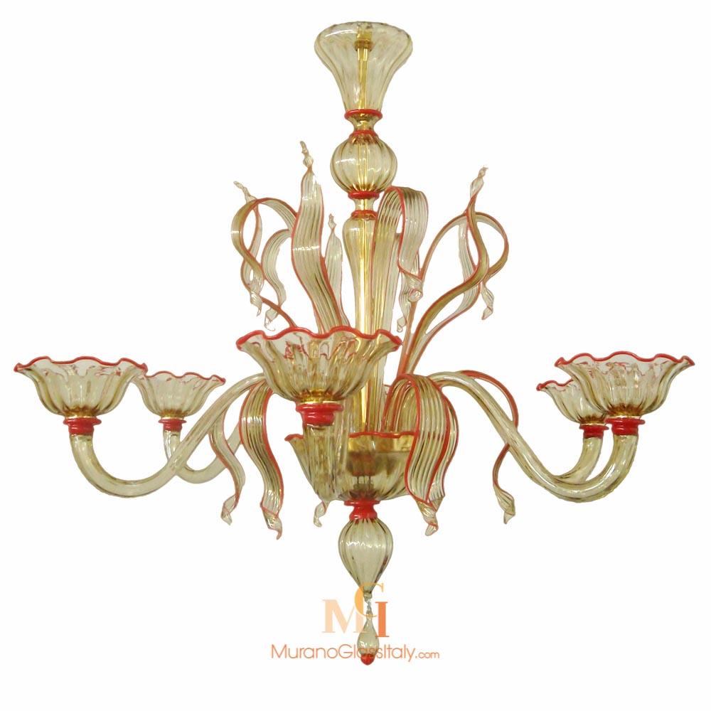 plafonnier verre de murano