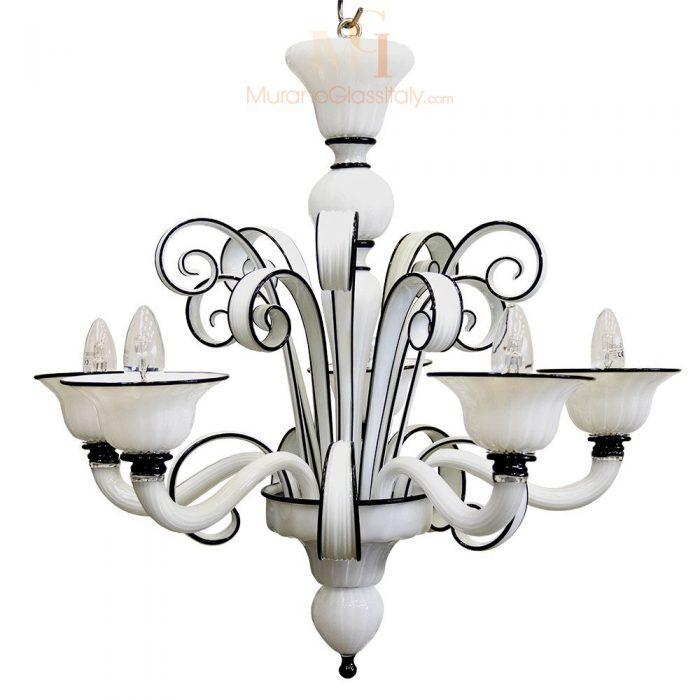 欧式黑白水晶吊灯