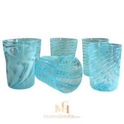murano glass water tumblers