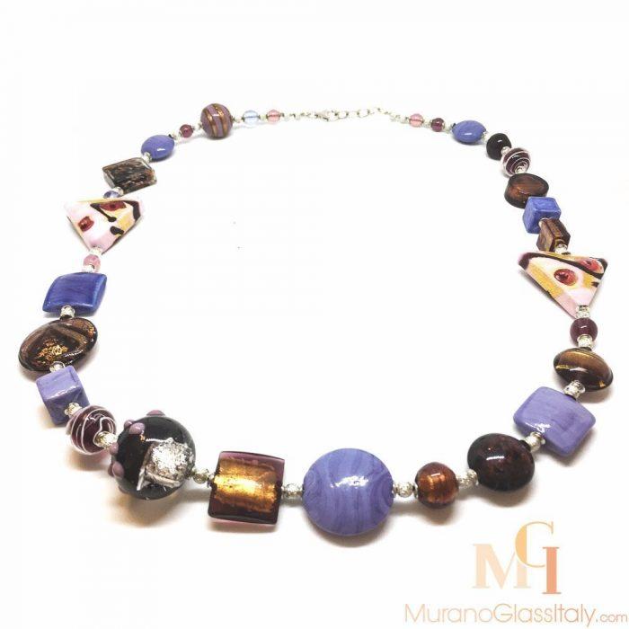 collier en verre de murano bijoux