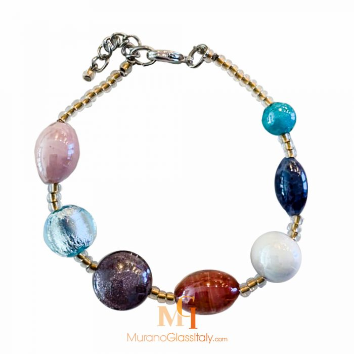murano glass bead bracelet