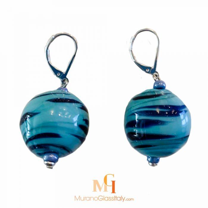 murano glas ohrstecker