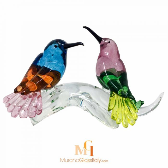 oiseau en verre soufflé