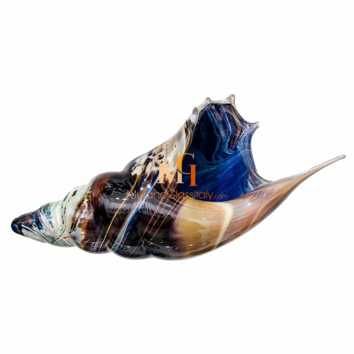 murano glass conch shell