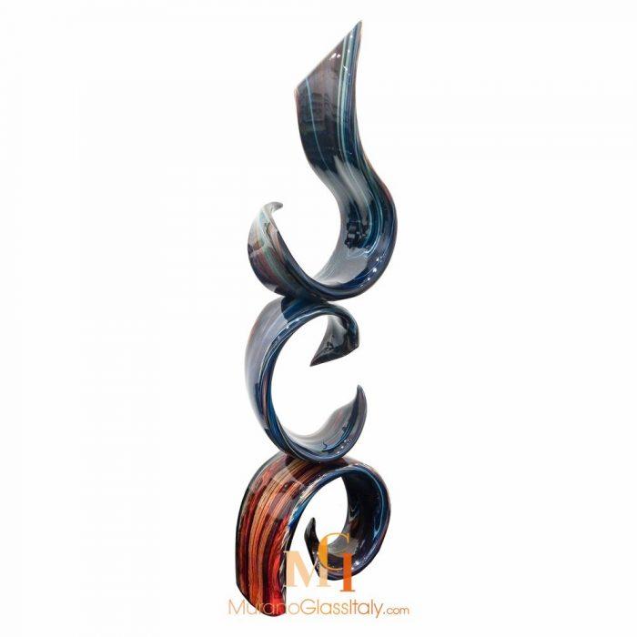 glass swirl sculpture