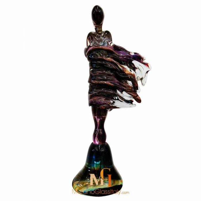 glass woman sculpture