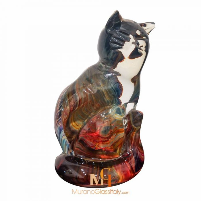 chat en verre de murano