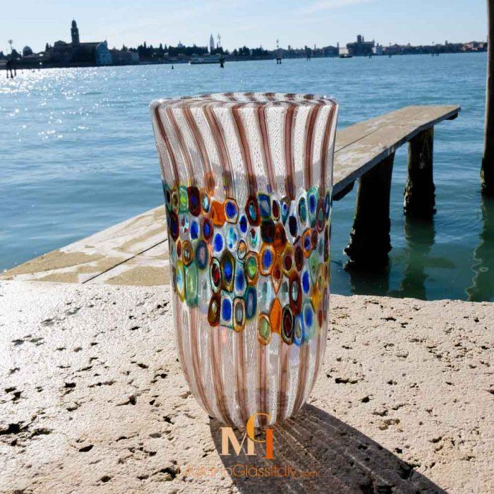 murano glassware vase
