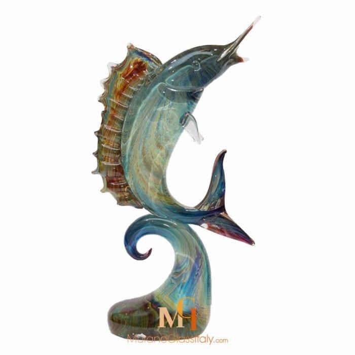 large murano glass fish