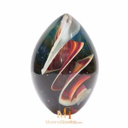 glass egg paperweight