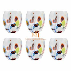 millefiori drinking glasses