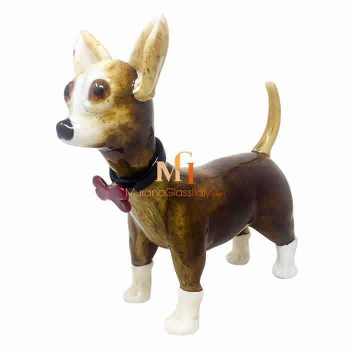 murano glass dog figurines