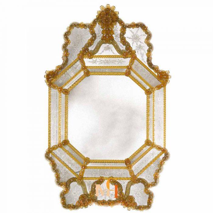 miroir venitien octogonal